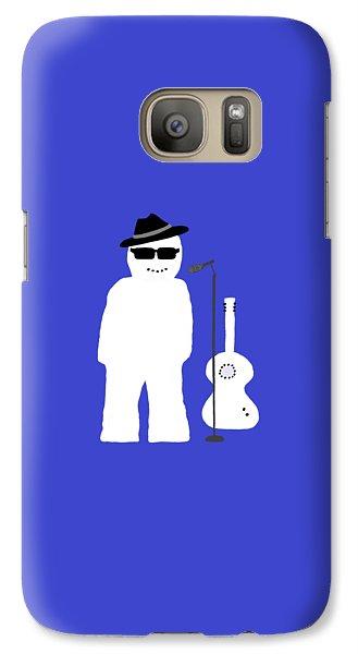 Galaxy Case featuring the digital art Snowman Musician by Barbara Moignard