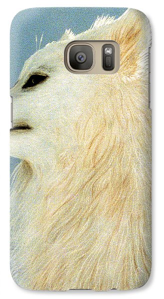 Galaxy Case featuring the pastel Snowman The Samoyed by Jan Amiss