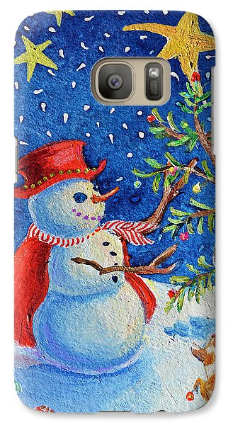 Galaxy Case featuring the painting Snowmas Christmas by Li Newton