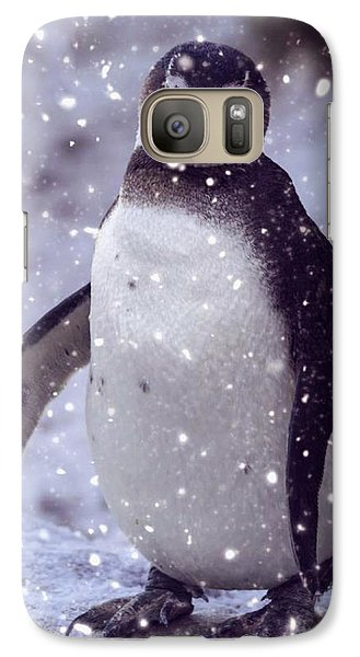 Galaxy Case featuring the photograph Snowpenguin by Chris Boulton