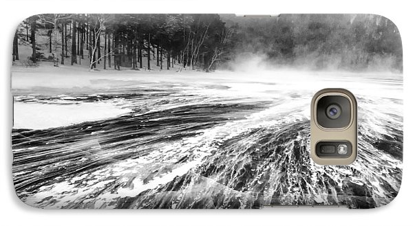 Galaxy Case featuring the photograph Snowstorm by Hayato Matsumoto