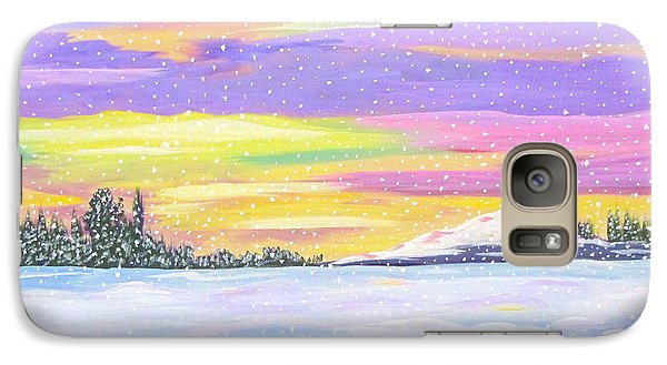 Galaxy Case featuring the painting Snowstorm by Phyllis Kaltenbach