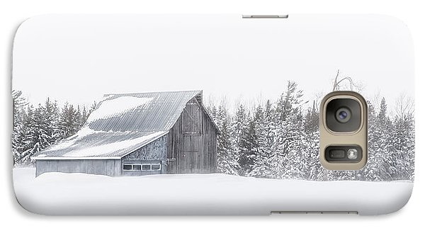 Galaxy Case featuring the photograph Snowy Barn by Dan Traun