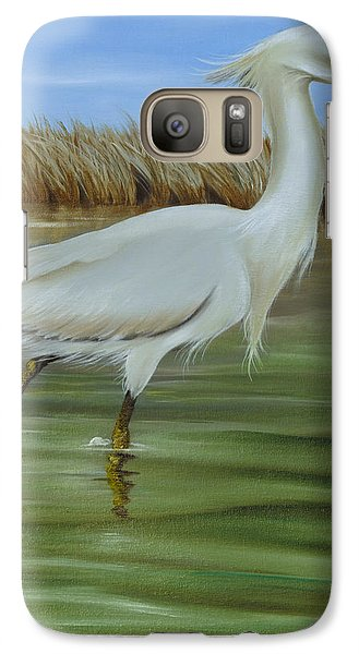 Galaxy Case featuring the painting Snowy Egret 1 by Phyllis Beiser