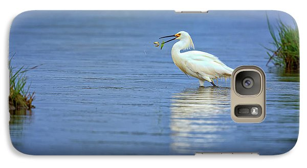 Snowy Egret At Dinner Galaxy S7 Case by Rick Berk