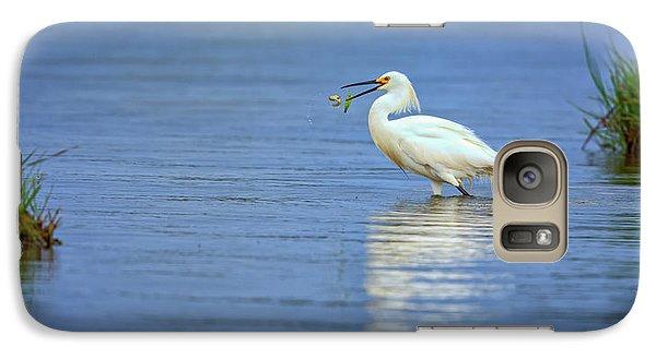 Snowy Egret At Dinner Galaxy S7 Case