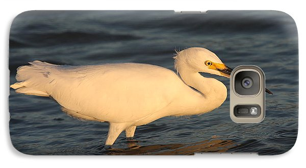 Galaxy Case featuring the photograph Snowy Egret By Sunset by Christiane Schulze Art And Photography