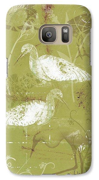 Snowy Egrets Galaxy Case by Arline Wagner