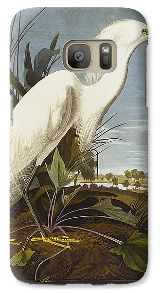 Snowy Heron Galaxy S7 Case by John James Audubon