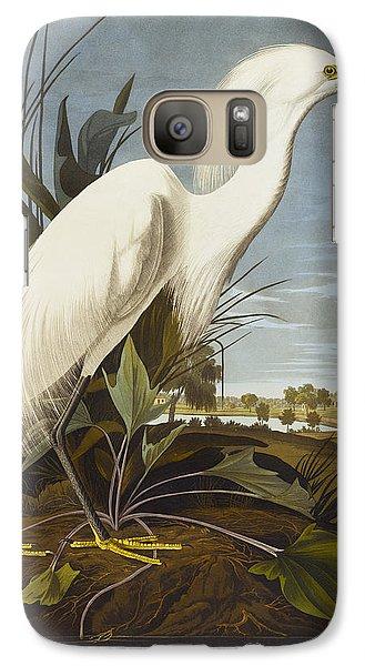 Egret Galaxy S7 Case - Snowy Heron by John James Audubon