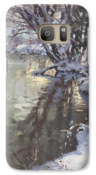 Hyde Park Galaxy S7 Case - Snowy Hyde Park by Ylli Haruni