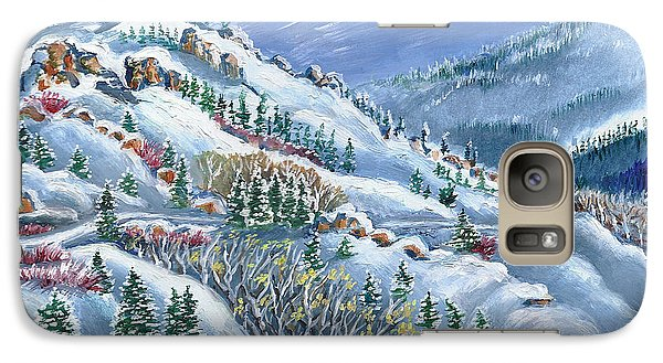 Galaxy Case featuring the painting Snowy Mountain Road by Dawn Senior-Trask