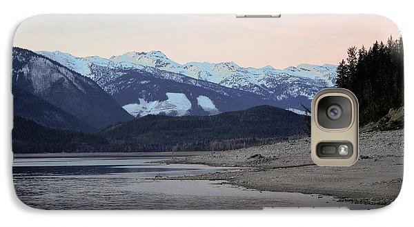 Galaxy Case featuring the photograph Snowy Mountains by Victor K