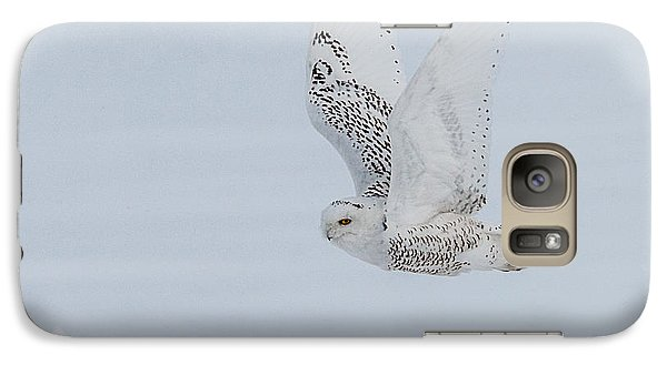 Galaxy Case featuring the photograph Snowy Owl #3/3 by Patti Deters