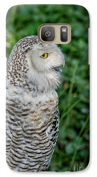 Galaxy Case featuring the photograph Snowy Owl by Patricia Hofmeester
