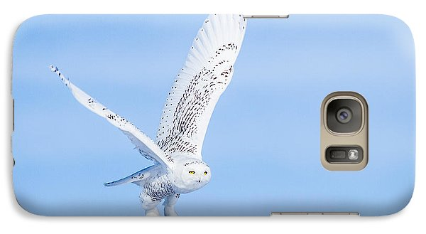 Galaxy S7 Case featuring the photograph Snowy Owls Soaring by Rikk Flohr
