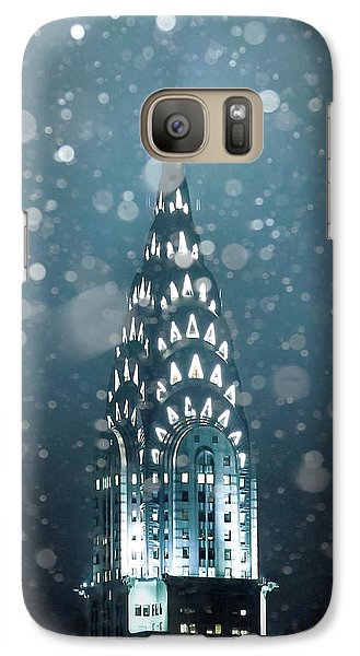 Chrysler Building Galaxy S7 Case - Snowy Spires by Az Jackson