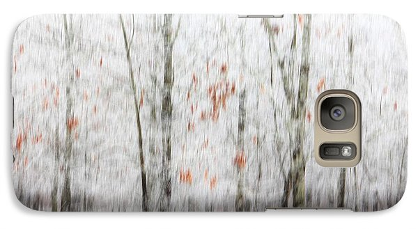 Galaxy Case featuring the photograph Snowy Trees Abstract by Benanne Stiens