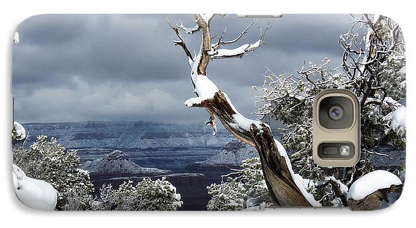 Galaxy Case featuring the photograph Snowy View by Laurel Powell