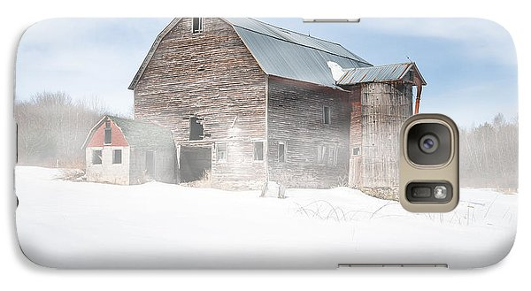 Galaxy Case featuring the photograph Snowy Winter Barn by Gary Heller