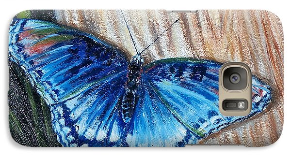 Galaxy Case featuring the painting So Blue by Bonnie Heather