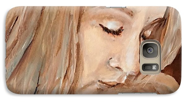 Galaxy Case featuring the painting So This Is Love by MaryAnne Ardito
