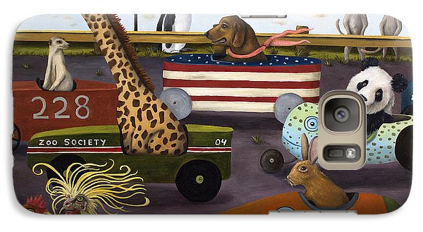 Meerkat Galaxy S7 Case - Soap Box Derby by Leah Saulnier The Painting Maniac