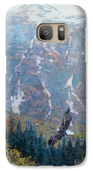 Galaxy Case featuring the painting Soaring Eagle by Donald Maier