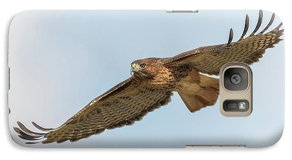 Galaxy Case featuring the photograph Soaring Hawk 2 by Angie Vogel