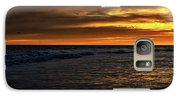 Galaxy Case featuring the photograph Soaring In The Sunset by Kelly Reber