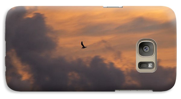 Galaxy Case featuring the photograph Soaring Into The Sunset by Richard Bryce and Family