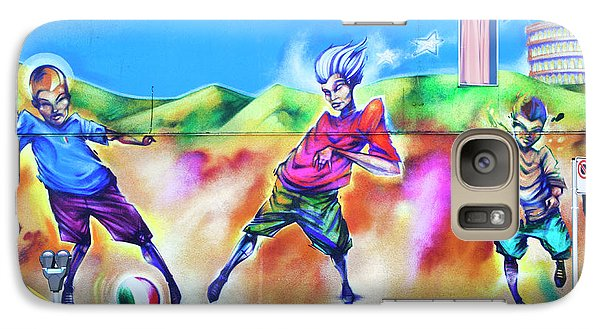 Galaxy Case featuring the photograph Soccer Graffiti by Theresa Tahara