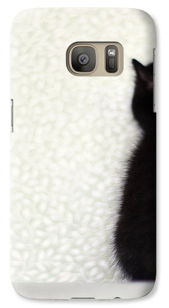 Galaxy Case featuring the photograph Sitting Kitty by Amy Tyler
