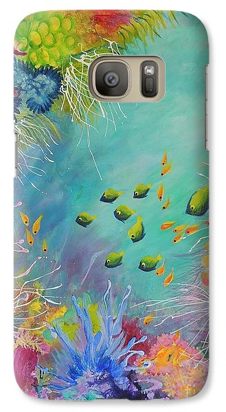 Galaxy Case featuring the painting Soft And Hard Reef Corals by Lyn Olsen