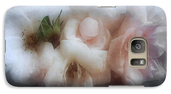 Galaxy Case featuring the photograph Soft Pink Roses by Louise Kumpf