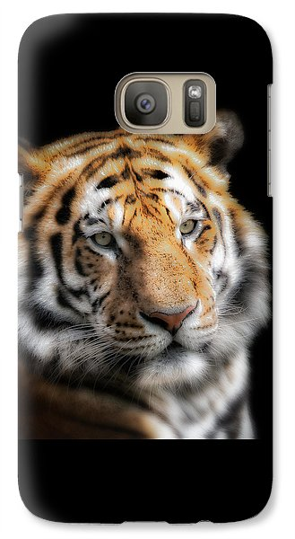Galaxy Case featuring the photograph Soft Tiger Portrait by Chris Boulton