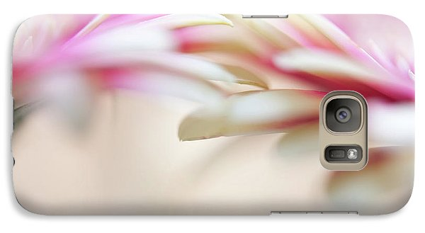 Galaxy Case featuring the photograph Soft Touch. Macro Gerbera by Jenny Rainbow