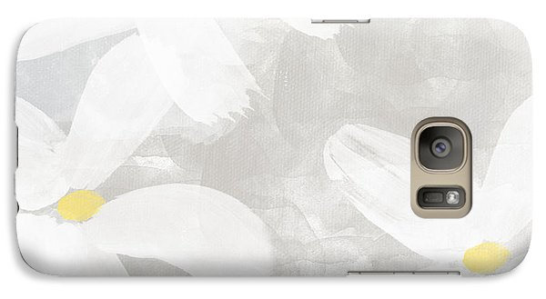 Daisy Galaxy S7 Case - Soft White Flowers by Linda Woods
