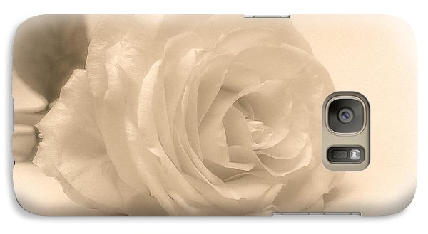 Galaxy Case featuring the photograph Soft White Rose by Scott Carruthers