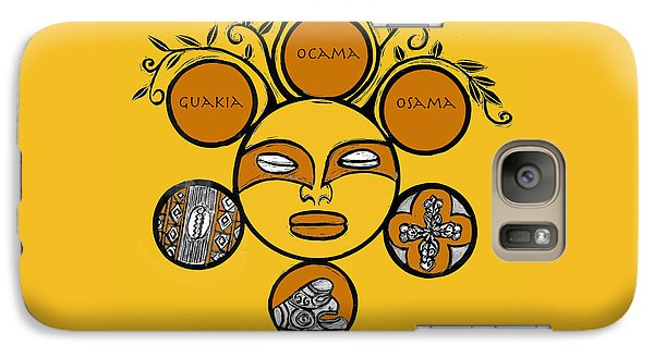 Galaxy Case featuring the drawing Sol Taino by Aurora Levins Morales