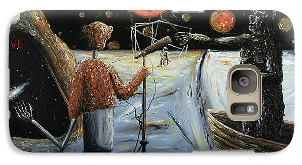 Galaxy Case featuring the painting Solar Broadcast -transition- by Ryan Demaree