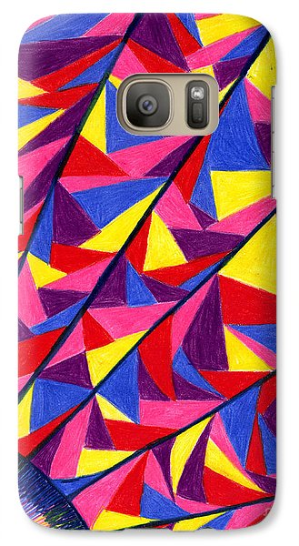 Galaxy Case featuring the drawing Solar Fractals by Kim Sy Ok