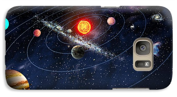 Galaxy Case featuring the digital art Solar System by Gina Dsgn
