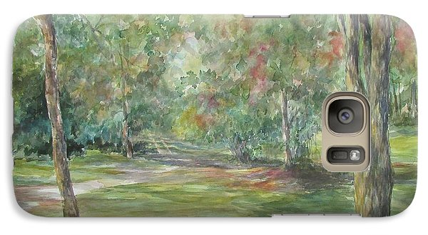 Galaxy Case featuring the painting Sold River Nature Trails by Gloria Turner