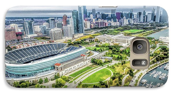 Soldier Field Galaxy S7 Case - Soldier Field Chicago Skyline by Christopher Arndt