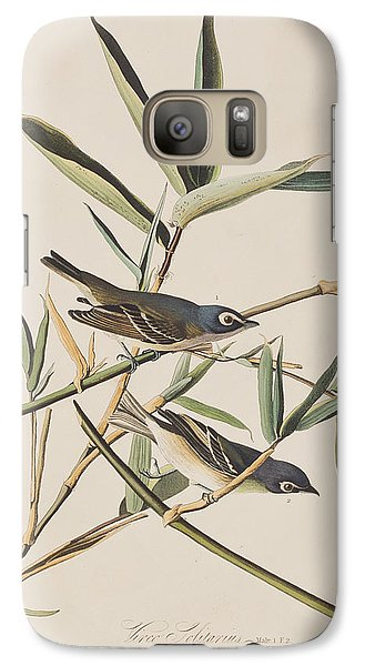 Flycatcher Galaxy S7 Case - Solitary Flycatcher Or Vireo by John James Audubon
