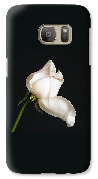 Galaxy Case featuring the photograph Solitary Rosebud by Margie Avellino