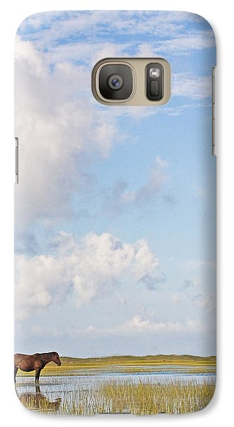 Galaxy Case featuring the photograph Solitary Wild Horse by Bob Decker