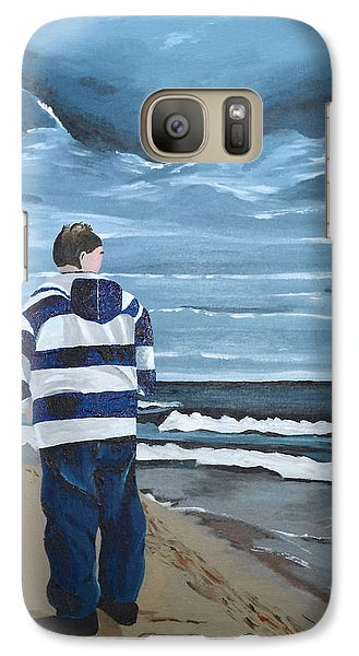 Galaxy Case featuring the painting Solitude by Donna Blossom