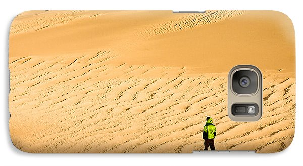 Galaxy S7 Case featuring the photograph Solitude In The Dunes by Rikk Flohr